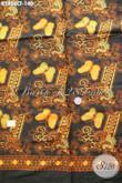 Kain Batik Modern Motif Kupu Warna Klasik, Batik Halus Cap Tulis Bahan Busana Wanita Nan Istimewa Hanya 140K [K2806CT-200x110cm]
