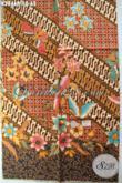 Sedia Kain Batik Solo Halus, Produk Batik Klasik Proses Printing Sentuhan Modern Cocok Untuk Busana Kerja [K2846P-200x110cm]