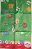 Batik Kain Dasar Hijau Motif Bagus Dan Keren, Batik Solo Printing Bahan Aneka Busana Nan Berkelas [K2884P-200x110cm]