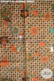 Produk Terkini Batik Halus Proses Printing Motif Kawung Bunga, Batik Solo Istimewa Harga Murmer Bahan Pakaian Kerja Dan Santai Kwalitas Bagus [K2959P-200x110cm]