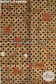 Batik Kawung Klasik, Batik Halus Proses Printing Buatan Solo Asli, Elegan Untuk Baju Kerja Wanita Pria [K3078P-200x115cm]