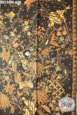 Kain Batik Solo Premium, Batik Halus Dan Berkelas Bahan Pakaian Kerja Dan Formal Proses Tulis Soga Motif Mewah Harga 650 Ribu, Asli Buatan Solo [K3123TS-240x110cm]