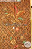 Batik Tulis Soga Mewah, Kain Batik Premium Motif Klasik Sidomukti Boket, Bahan Baju Kerja Dan Acara Resmi, Penampilan Lebih Istimewa [K3138TS-240x110cm]
