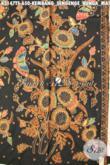 Batik Klasik Solo Motif Bungas Matahari Nan Mewah, Batik Halus Bahan Busana Berkelas Proses Tulis Soga, Menunjang Penampilan Makin Sempurna [K3147TS-240x110cm]