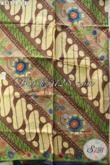 Batik Kain Parang  Bunga, Batik Halus Proses Printing Warna ELegan Dan Mewah, Bikin Penampilan Mempesona [K3177P-240x115cm]