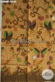 Kain Batik Bahan Baju Wanita, Batik Halus Motif Kekinian Warna Klasik Elegan Proses Printing, Cocok Juga Untuk Pakaian Cowok [K3260P-200x115cm]