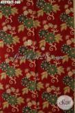 Batik Kain Warna Merah Motif Terkini, Batik Berkelas Proses Cap Tulis Cocok Untuk Pakaian Resmi Wanita Muda Dan Dewasa Hanya 260K [K3298CT-240x110cm]