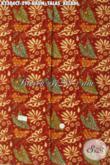 Kain Batik Halus Kwalitas Premium, Batik Solo Motif Daun Talas Keladi Bahan Busana Berkelas Proses Cap Tulis, Di Jual Online 290K [K3304CT-240x110cm]
