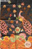 Sedia Kain Batik Elegan Motif Mewah Burung Merak, Batik Halus Kwalitas Premium Proses Kombinasi Tulis, Istimewa Untuk Busana Kerja Dan Acara Formal [K3415PM-240x110cm]