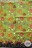 Kain Batik Hijau Motif Bunga, Batik Kain Istimewa Proses Kombinasi Tulis, Pas Banget Untuk Busana Kerja Wanita Karir [K3424PM-240x110cm]