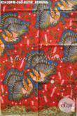 Batik Kain Motif Burung Dasar Merah, Kain Batik Elegan Proses Kombinasi Tulis Cocok Untuk Pakaian Santai Maupun Formal Penampilan Lebih Sempurna [K3430PM-240x110cm]