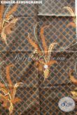 Batik Halus Bahan Jarit, Batik Solo Istimewa Motif Kawung Manuk, Batik Kombinasi Tulis Kwalitas Bagus [KJ068AM-240x105cm]