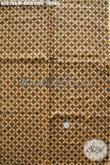 Agen Kain Batik Murah Jual Bahan Jarik Istimewa Proses Kombinasi Tulis Motif Klasik Kawung Ireng [KJ078AM-240x105cm]
