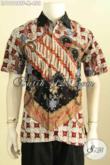 Model Baju Batik Pria Terkini, Hem Lengan Pendek Premium Full Furing Motif Klasik Proses Tulis, Penampilan Terlihat Berkelas [LD10128TF-M]