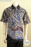 Model Baju Batik Kerja Pria Dewasa, Busana Batik Atasan Cowok Size XL Motif Elegan Proses Tulis Daleman Full Furing, Hanya 455K [LD10144TF-XL]
