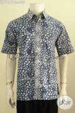 Model Baju Batik Hem Pria Lengan Pendek Terkini, Hadir Dengan Kwalitas Bagus Desain Kekinian Bahan Adem Motif Keren Proses Cap Tulis, Penampilan Makin Tampan [LD10167C-L]