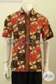 Model Baju Batik Kemeja Untuk Pria Muda, Hem Batik Cap Tulis Motif Unik Istimewa Dengan Daleman Full Furing Bikin Kesan Mewah Dan Berkelas [LD10174CTRF-S]