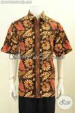 Model Baju Batik Solo Spesial Untuk Lelaki Gemuk, Kemeja Batik Klasik Full Furing Big Size Bahan Adem Nyaman Di Pakai Hanya 200 Ribuan [LD10190CTF-XXL]