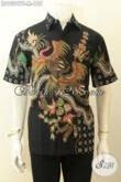 Model Baju Batik Hem Lengan Pendek Motif Keren Proses Tulis, Pakaian Batik Berkelas Harga 100 Ribuan [LD10297T-M]
