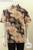 Model Baju Batik Keren Motif Trendy Warna Elegan, Hem Batik Printing Solo Yang Cocok Untuk Kerja Dan Jalan-Jalan [LD10302PB-M]