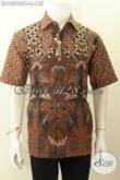 Model Baju Batik Kemeja Motif Klasik Printing Cabut, Busana Batik Pria Kantoran, Pilihan Tepat Tampil Gagah Dan Berkelas Hanya 100 Ribuan [LD10310PB-L]