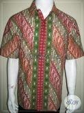 Batik Pria Online Asli Batik Solo Lengan Pendek Size L [LD1040CT-L]