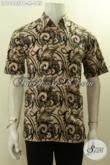 Model Baju Batik Solo Elegan Lengan Pendek, Pakaian Batik Motif Terkini Bahan Adem Yang Nyaman Di Pakai, Menunjang Penampilan Makin Sempurna [LD10425PB-M]
