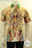 Model Baju Batik Pria Lengan Pendek Proses Tulis Remekan, Kemeja Batik Halus Bahan Adem Cocok Untuk Santai Dan Resmi [LD10474TRM-S]