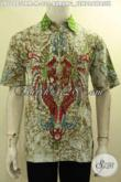 Model Baju Batik Kemeja Lengan Pendek, Hem Batik Solo Elegan Modis Bahan Adem Motif Burung Cendrawasih Harga 235K [LD10483TRM-M]