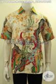 Model Baju Batik Hem Solo Lengan Pendek, Pakaian Batik Motif Bagus Dan Kekinian Proses Tulis Remekan, Cocok Untuk Seragam Kerja Tampil Menawan [LD10484TRM-M]