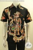 Model Baju Kemeja Lengan Pendek Bahan Batik Tulis Soga Motif Wayang Kresna, Hem Batik Cowok Yang Bikin Penampilan Gagah Dan Keren [LD10516TS-S]