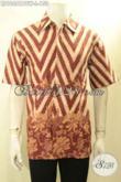 Batik Kemeja Solo Halus Motif Bagus Nan Elegan, Pakaian Batik Lengan Pendek Seragam Kerja Bikin Penampilan Tampan Menawan [LD10681PBW-L]