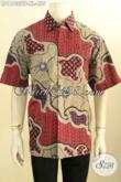 Produk Baju Kemeja Batik Tulis Kwalitas Premium, Pakaian Batik Pria Dewasa Lengan Pendek Full Furing Motif Unik, Tampil Modis Dan Gaya Hanya 455 Ribu Saja [LD11033TF-XL]