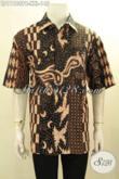 Jual Kemeja Batik Solo Lengan Pendek Kwalitas Bagus Harga Murmer, Baju Batik Pria Kantoran Yang Membuat Penampilan Lebih Gagah Dan Tampan [LD11188PB-XXL]