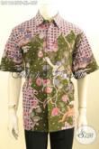 Baju Batik Kerja Pria Lengan Pendek Khas Solo, Hem Batik Istimewa Full Furing Motif Bagus Proses Tulis, Bisa Untuk Santai Atau Resmi [LD11245TF-XL]