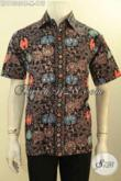 Baju Kemeja Batik Solo Asli Model Lengan Pendek Untuk Kerja Dan Jalan-Jalan, Pakaian Batik Modis Untuk Pria Muda Terlihat Tampan Mempesona [LD11305CT-M]