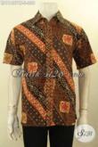 Baju Kemeja Batik Modis Motif Klasik, Pakaian Batik Solo Asli Proses Cap Tulis Desain Elegan Dan Keren Lengan Pendek, Pas Banget Untuk Kerja Kantoran [LD11407CT-S]