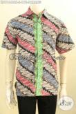 Baju Batik Motif Parang Dengan Kombinasi Warna Trendy, Busana Batik Modis Proses Cap Tulis, Tampil Lebih Gaya Dan Keren [LD11444CT-S]