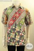 Model Baju Batik Pria Masa Kini, Busana Batik Modis Dengan Motif Modern Klasik Bahan Adem Proses Cap Tulis, Cocok Untuk Kerja Atau Kondangan [LD11446CT-L]