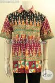 Koleksi Terbaru Kemeja Batik Pria Lengan Pendek Motif Bagus Nan Berkelas, Baju Batik Cap Tulis Buatan Solo, Bikin Penampilan Ganteng Maksimal [LD11448CT-L]