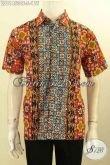 Baju Kemeja Batik Pria Kombinasi, Busana Batik Modis Motif Elegan Dan Berkelas, Pakaian Batik Pria Muda Untuk Kerja Dan Acara Resmi PRoses Cap Tulis Harga Terjangkau [LD11453CT-S]