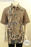 Jual Baju Batik Pria Terbaru, Pakaian Batik Halus Motif Elegan Dengan Sentuhan Klasik Proses Printing, Busana Batik Exclusive Buat Lelaki Gemuk Sekali Bikin Penampilan Tampan Dan Berkelas [LD11622PB-XXXXL]