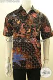 Kemeja Batik Premium Model Lengan Pendek, Hem Batik Solo Asli Motif Keren Proses Tulois Di Lengkapi Lapisan Furing, Tampil Gagah Dan Mewah [LD11770TF-M]