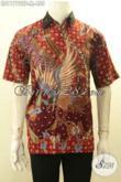 Busana Batik Pria Lengan Pendek Halus Motif Elegan Proses Tulis, Baju Batik Solo Asli Mewah Full Furing Cocok Buat Ngantor Dan Acara Resmi [LD11772TF-M]
