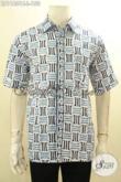 Jual Kemeja Batik Modis Lengan Pendek Motif Tren Masa Kini, Pakaian Batik Pria Kerja Untuk Tampil Gagah Dan Tampan Maksimal Dengan Harga Terjangkau [LD11801C-L]