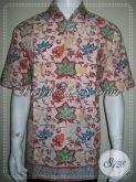 Baju Batik Laki-Laki Dasar Putih Untuk Kerja Dan Santai [LD1236CD-XL]