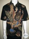 Kemeja Batik Pria Modern Motif Abstrak Kontemporer Untuk Kalangan Atas Yang Fashionable [LD1335T-XL]