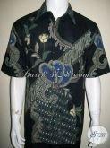 Kemeja Batik Selebriti Pria, Untuk Kalangan Atas, Warna Hitam [LD1337T-XL]