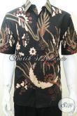 Jual Baju Kemeja Batik Abstrak Modern Untuk Laki-Laki Lengan Pendek [LD2003TS-L]