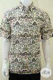 Baju Batik Elegan, Berkelas, Eksklusif Motif Klasik Wahyu Tumurun Warna Putih [LD2039CT-L]